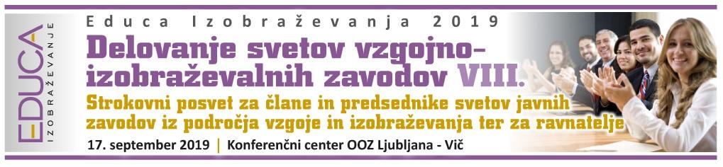 Delovanje svetov vzgojno- izobraževalnih zavodov VIII.- 2019